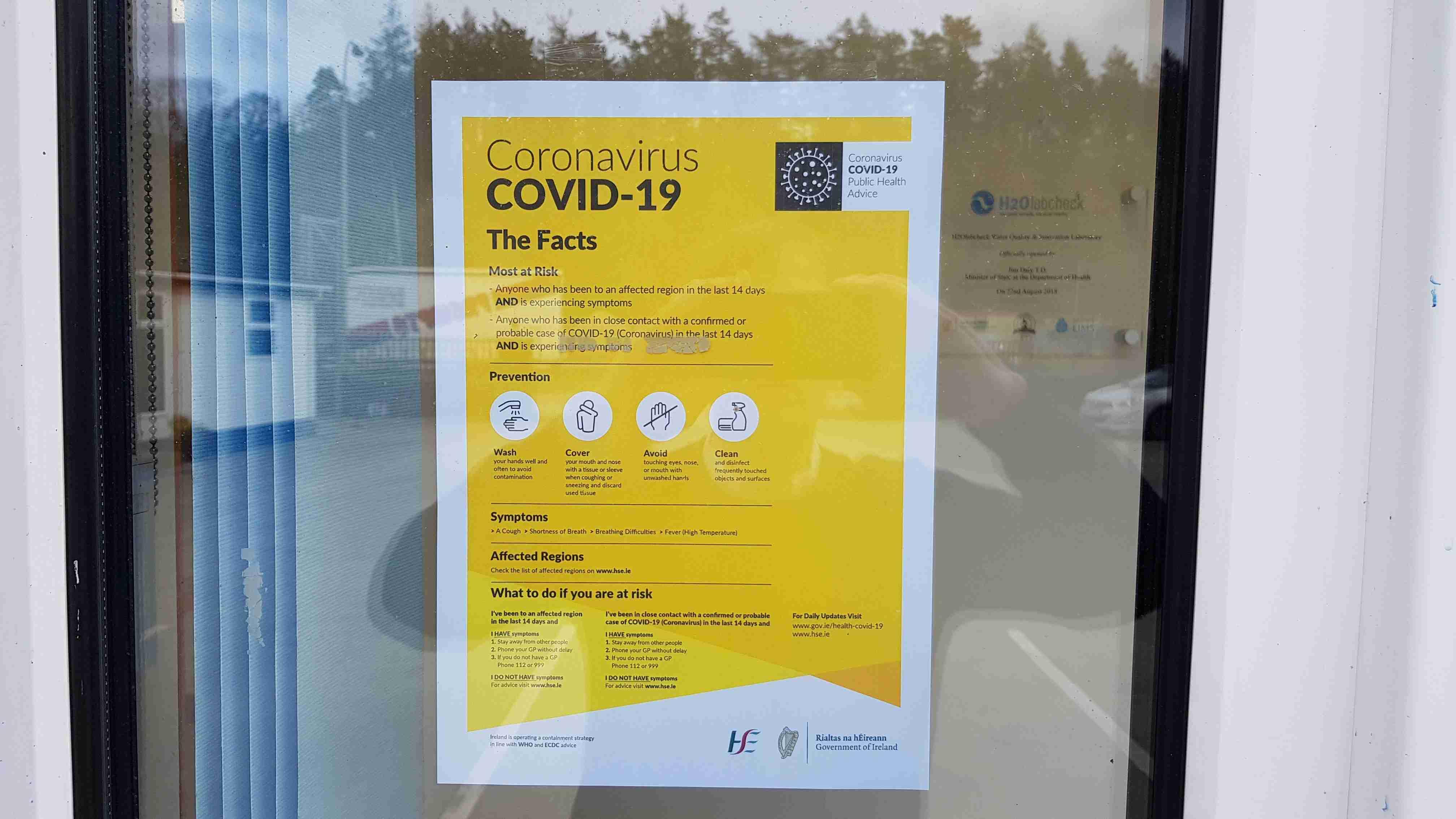 COVID19 Coronavirus HSE Poster Pandemic Preparedness Plan